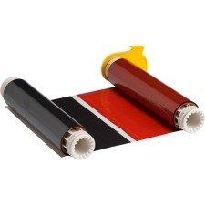 013523 - BBP85 Farbband 158mm, zweifarbig, 200mm Panele : Schwarz/Rot