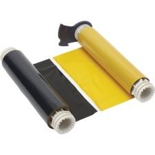 013527 - BBP85 Farbband 158mm, zweifarbig, 200mm Panele : Schwarz/Gelb
