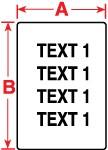062664 - Etiketten aus Vinylgewebe für M611, BMP61 und BMP71