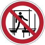 825122 - ISO Sicherheitskennzeichnung - Gerüst nicht betreten-befindet sich im Aufbau