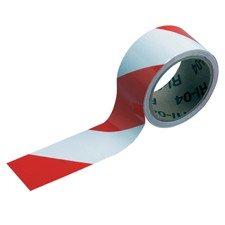 055296 - Langlebiges Markierungsband, Rot/Weiß, 50 mm x 16,5 m - B-950