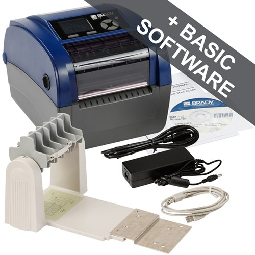 195568 - BBP12 Etikettendrucker–300dpi–US–mit Rollenhalter